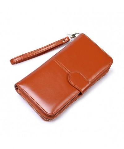 Womens Leather Wristlet Wallets Organizer