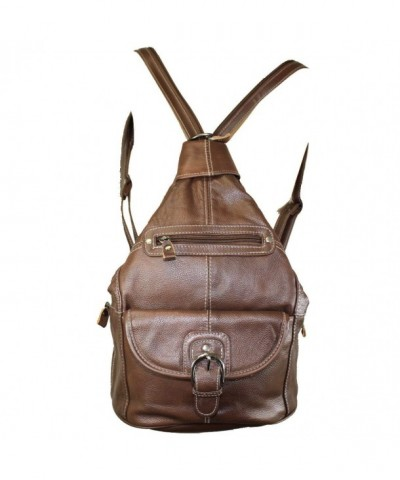 Leather Handbag Convertible Shoulder Backpack