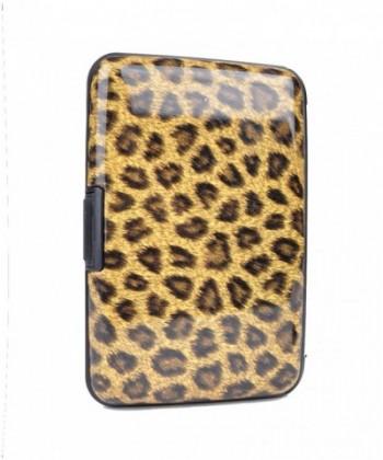 Brown Leopard Card Case Holder