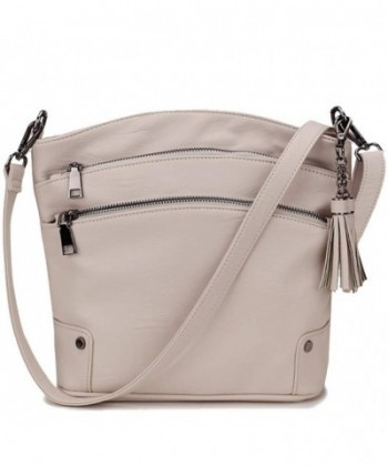 VONXURY VXMB002BEPU Crossbody Purse For Women Faux Leather Tassel Shoulder Bag for Girls with 2 Removable Strap VONXURY