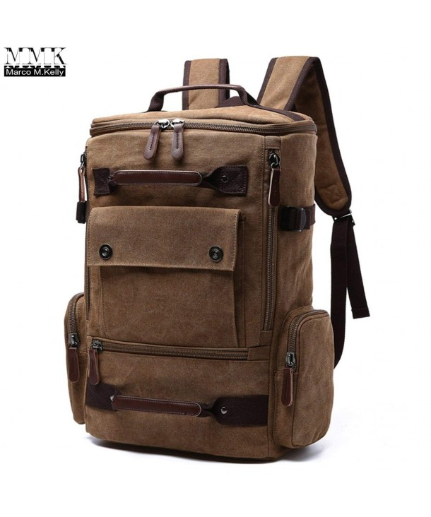 Lightweight Backpack Laptop Backpack Large Rucksack Retro MG 8831 BROWN