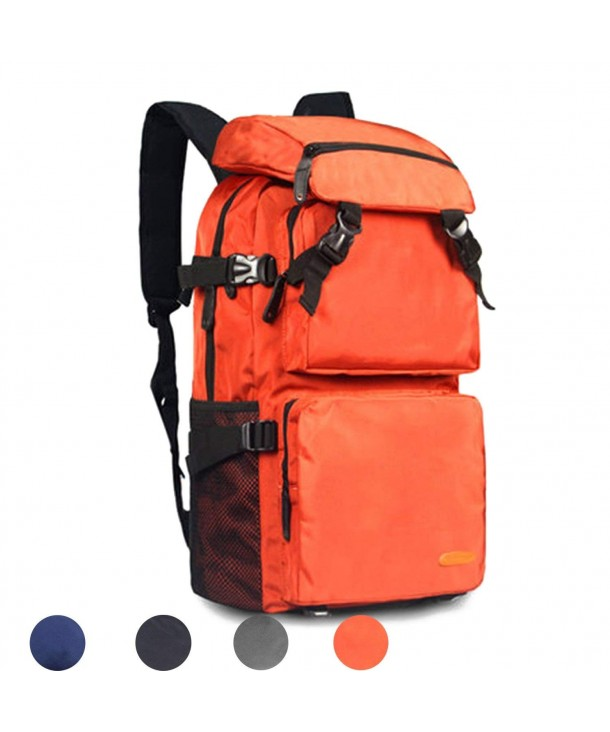 b71029bb30ca Lightweight Packable Durable Travel Hiking Backpack Daypack for  Backpacking- Hiking- Camping - Orange - CT1890C8YRX