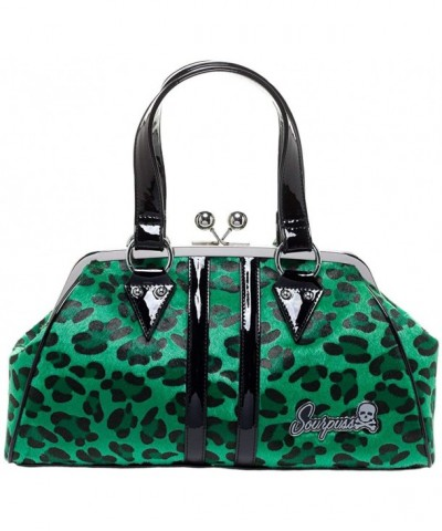 Sourpuss Temptress Leopard Purse Green