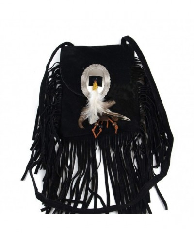 Fashion Shoulder Fringed Crossbody Feather