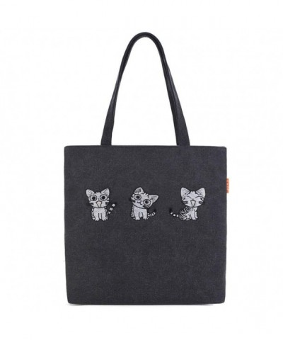 FUTISKY Shoulder Embroidery Cartoon Shopping