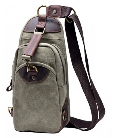 Gootium Canvas Unbalance Shoulder Backpack