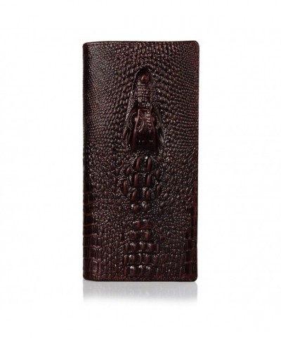 NiceEbag Genuine Leather Crocodile Multi Card