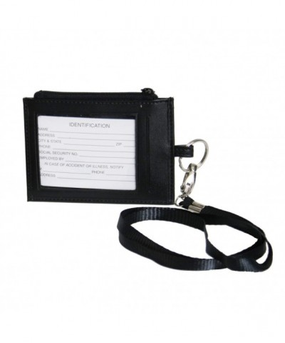 Royce Leather Lanyard Black