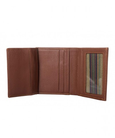 RFID Leather Trifold Wallets Men