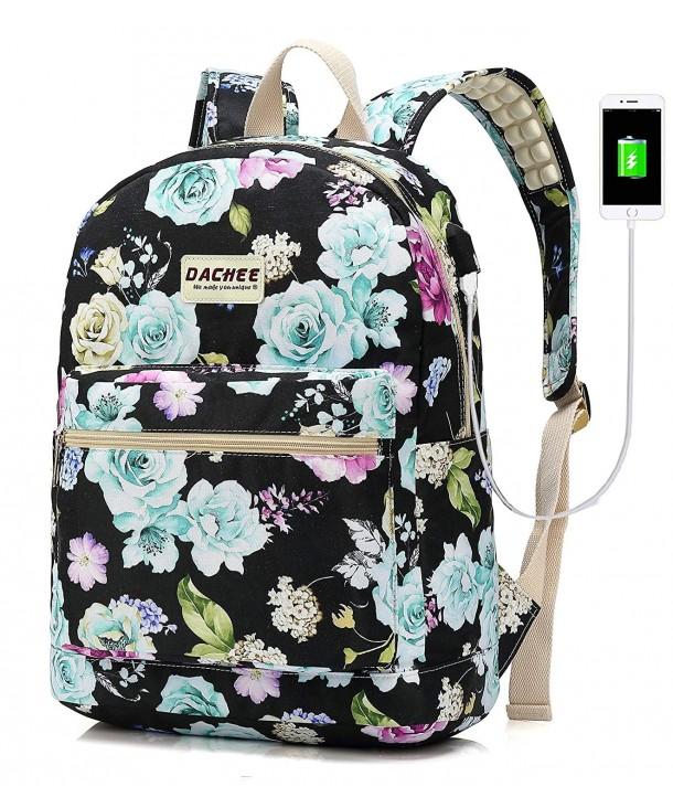 Backpack Charging Waterproof Bookbag Colour Flowers Cv188dyu2dt