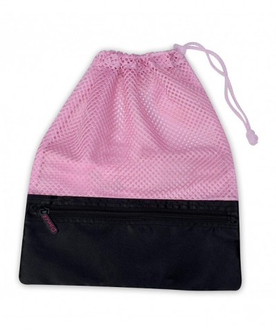 Mesh Shoe Drawstring Toggle Pocket