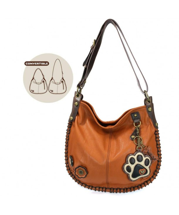 CHALA Crossbody Handbag Shoulder PawPrint Orange