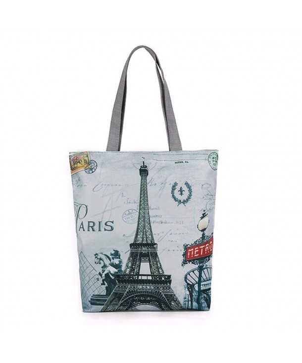 Hunzed Eiffel Canvas Shopping Handbags