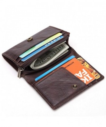 Leather Wallet Zipper Credit Protector