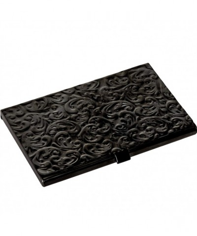 Metal Damask Embossed Business Black