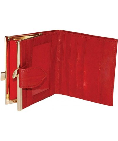 French Frame Eelskin Wallet Red