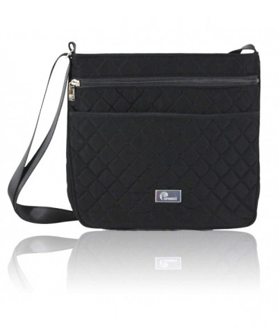Pursetti Black Quilted Crossbody Women