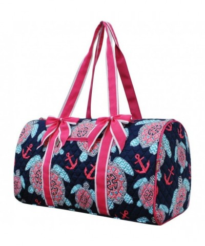 Turtle Anchor Print Travel Duffle