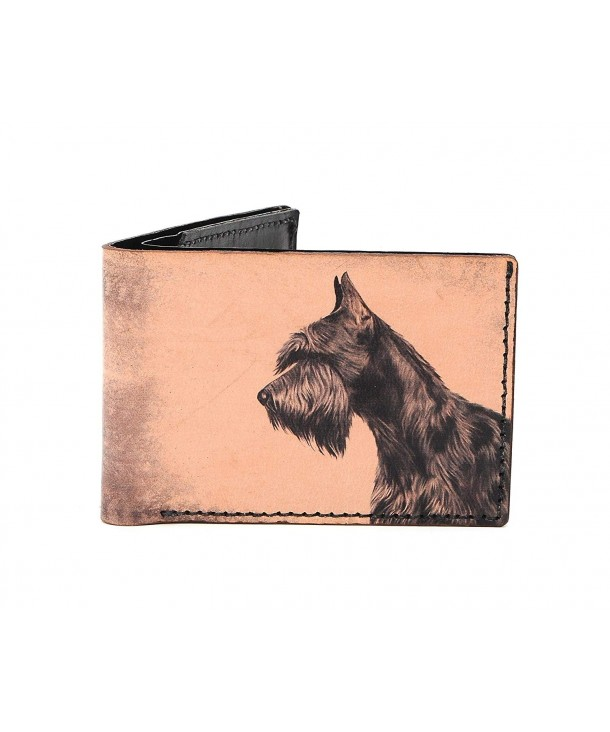 Schnauzer Handmade Digital Printed Leather