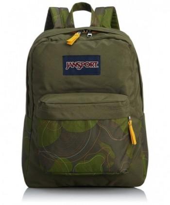 JanSport Superbreak Backpack Green Machine