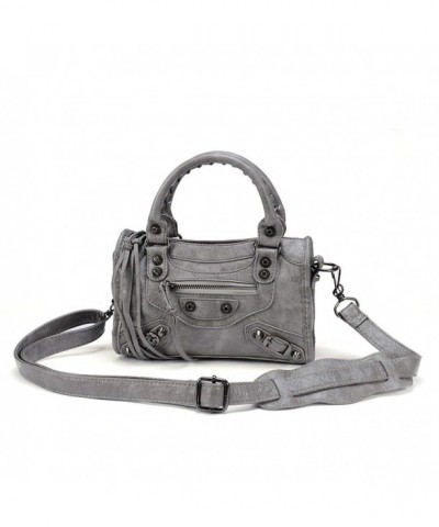 Leather Studed Motorcycle Shoulder Cross body