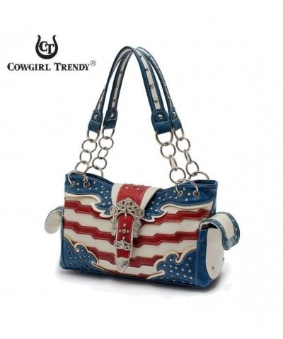 Western Handbag Stripes American Shoulderbag