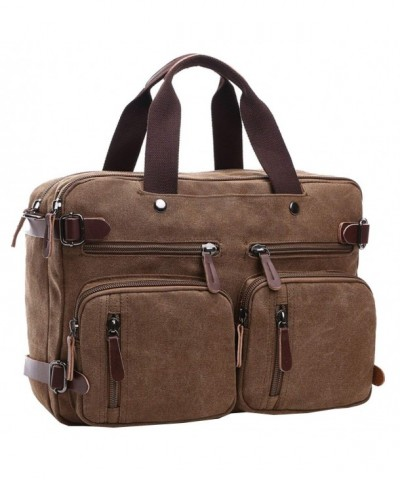 Berchirly Unisexs Canvas Duffel Backpacks