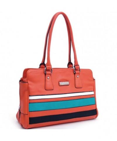Dasein Multicolor Striped Leather Shoulder