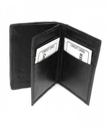 Black Leather Weight Bifold Wallet