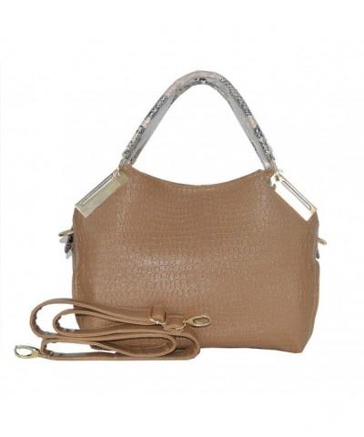 Whoishe174 Leather Alligator Shoulder Handbags