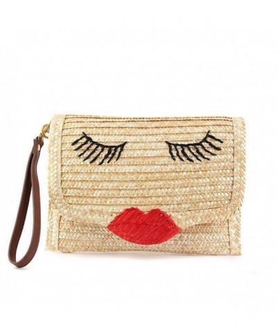 Kissy Woven Purses Envelope Clutch