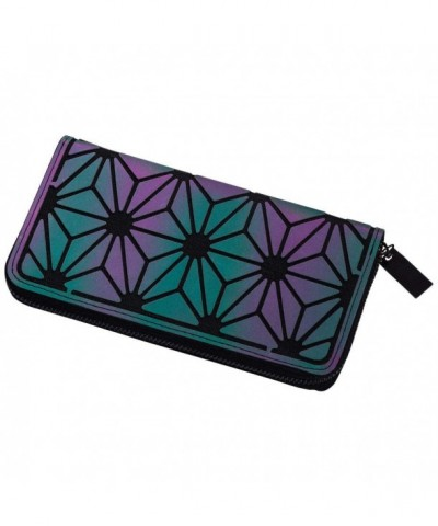 LANPA Holographic Geometric Clutch Wallet