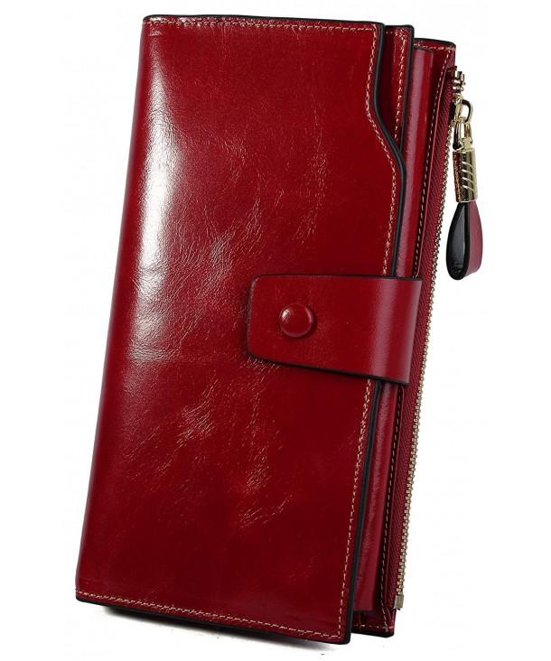 YALUXE Genuine Leather Blocking Wallets