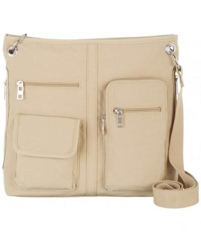 Bueno Multi Pocket Crossbody Handbag Khaki