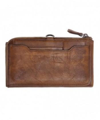 ZLYC Handmade Leather Clutch Removable
