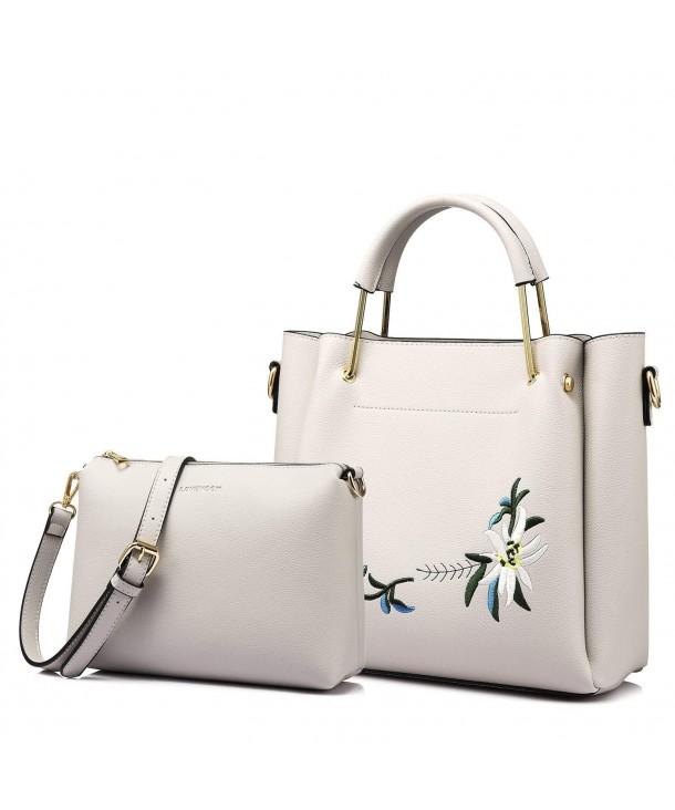 Handle Handbags Designer Shoulder Embroidery