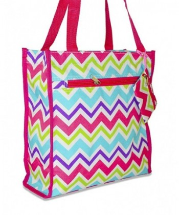 Ever Moda Chevron Tote Rainbow