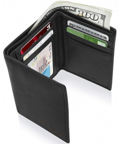 Trifold Leather Wallets Men Slim
