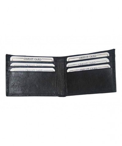 Genuine Leather Mens Wallet Window