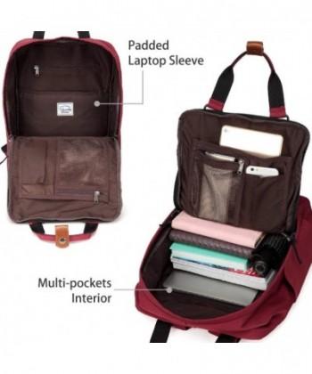 Backpack VASCHY Vintage Water Resistant Burgundy  Cheap Laptop Backpacks  Men  Backpacks a9ccbe3e03b5a