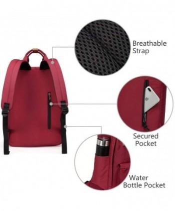 Available. Backpack VASCHY Vintage Water Resistant Burgundy  Cheap Laptop  Backpacks  Men Backpacks f680c5946af14