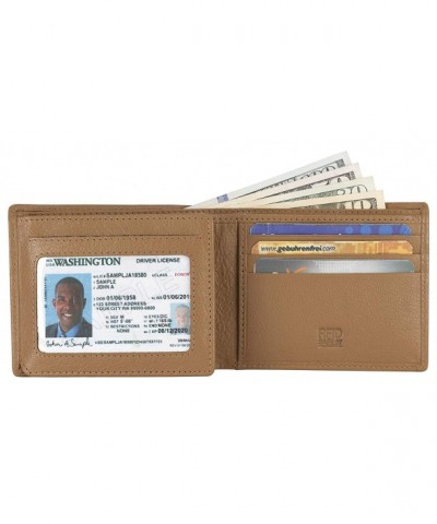 Leather BiFold Wallet Window Credit
