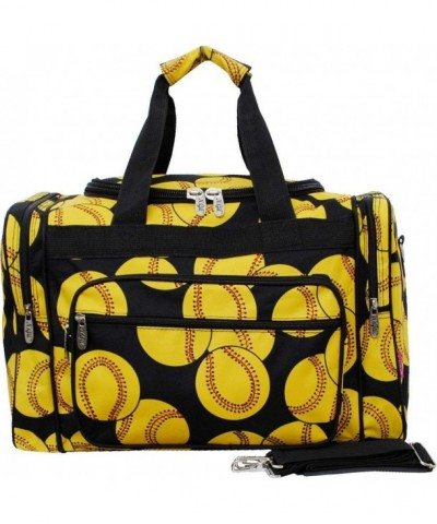 Softball Print Carry Shoulder Duffle