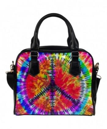InterestPrint Leather Aslant Shoulder Handbag