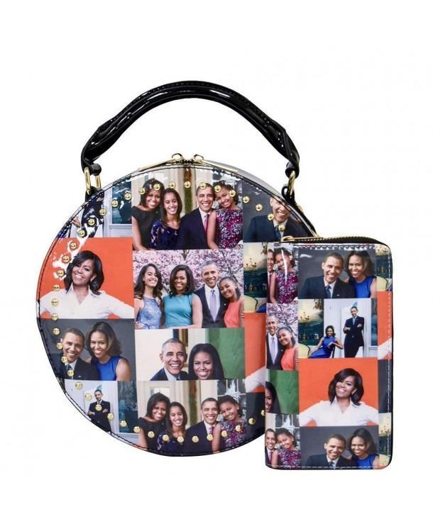 magazine collage crossbody Michelle satchel