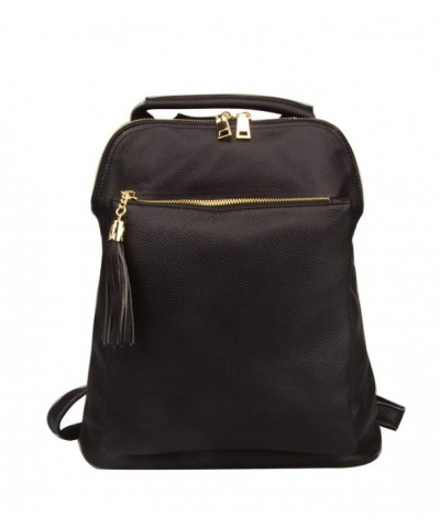 Fiswiss Genuine Leather Backpack Shoulder
