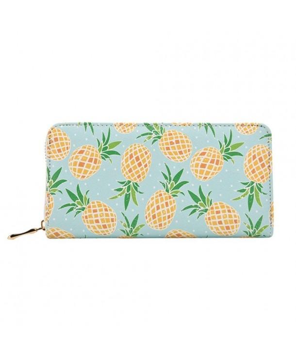Kukoo Leather Zipper Pineapple Designer
