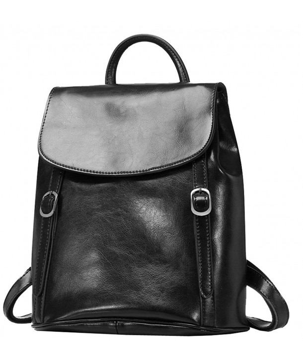 Womens Leather Backpack Vintage Daypack