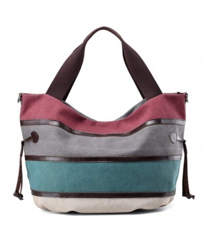 Canvas Shoulder Stripes Handbag Handbags