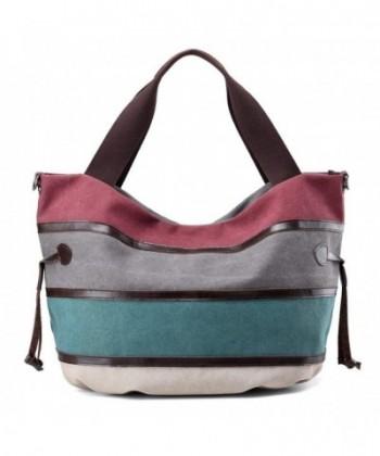 Canvas Shoulder Stripes Handbag Handbags